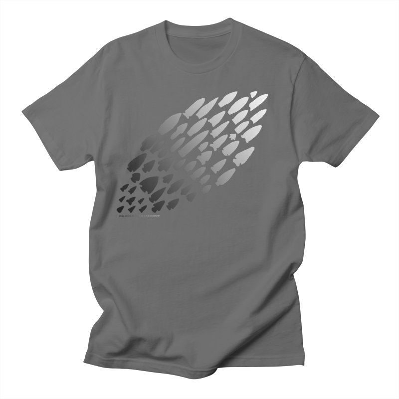 Iowa Projectile Points (B/W) Men's T-Shirt by Iowa Archaeology Gifts, Prints, & Apparel