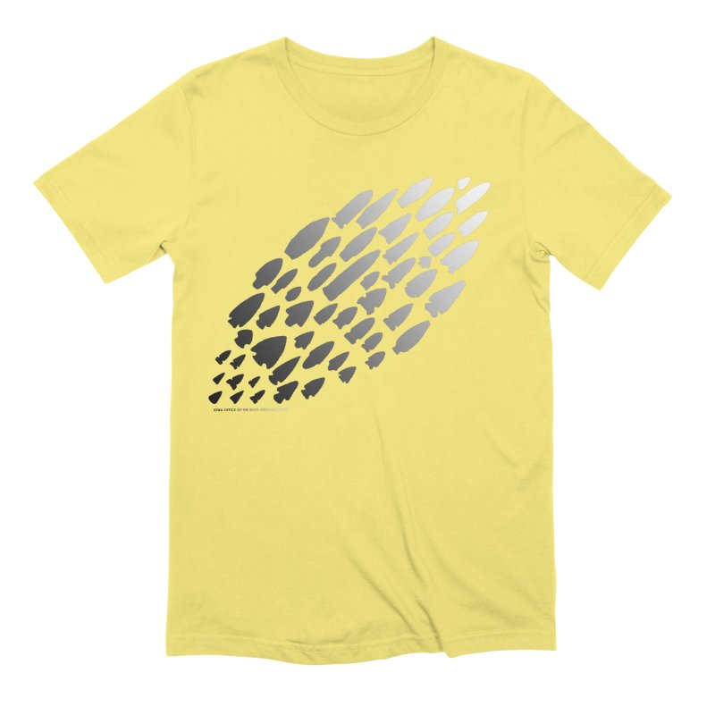 Iowa Projectile Points (B/W) Men's Extra Soft T-Shirt by Iowa Archaeology Gifts, Prints, & Apparel