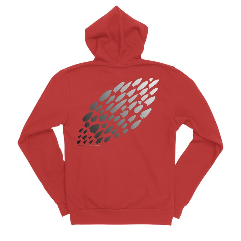 Iowa Projectile Points (B/W) Men's Zip-Up Hoody by Iowa Archaeology Gifts, Prints, & Apparel