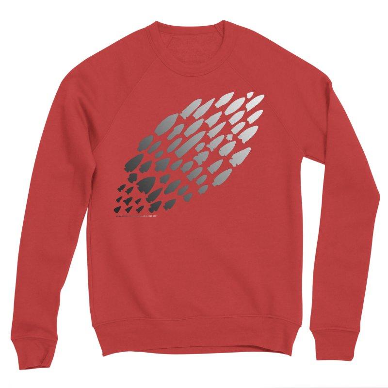 Iowa Projectile Points (B/W) Women's Sponge Fleece Sweatshirt by Iowa Archaeology Gifts, Prints, & Apparel