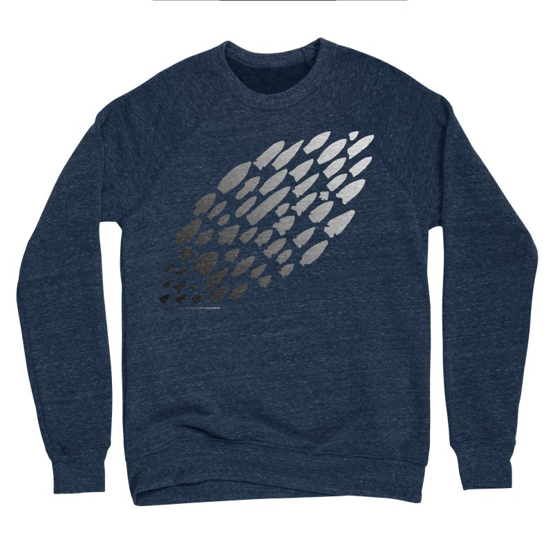 Iowa Projectile Points (B/W) Men's Sponge Fleece Sweatshirt by Iowa Archaeology Gifts, Prints, & Apparel