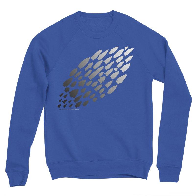 Iowa Projectile Points (B/W) Men's Sponge Fleece Sweatshirt by Iowa Archaeology Gifts, Prints, & Apparel