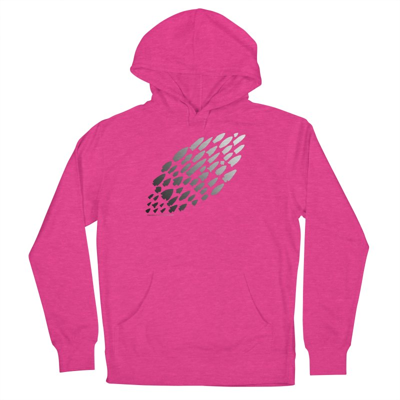 Iowa Projectile Points (B/W) Women's Pullover Hoody by Iowa Archaeology Gifts, Prints, & Apparel