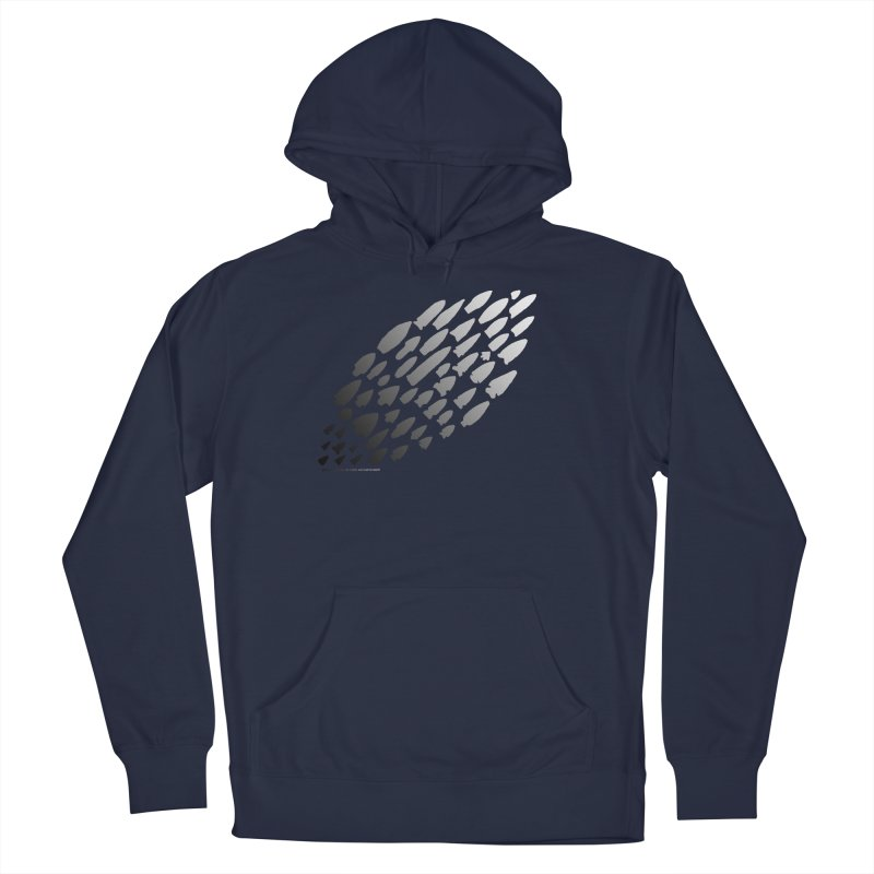 Iowa Projectile Points (B/W) Men's Pullover Hoody by Iowa Archaeology Gifts, Prints, & Apparel