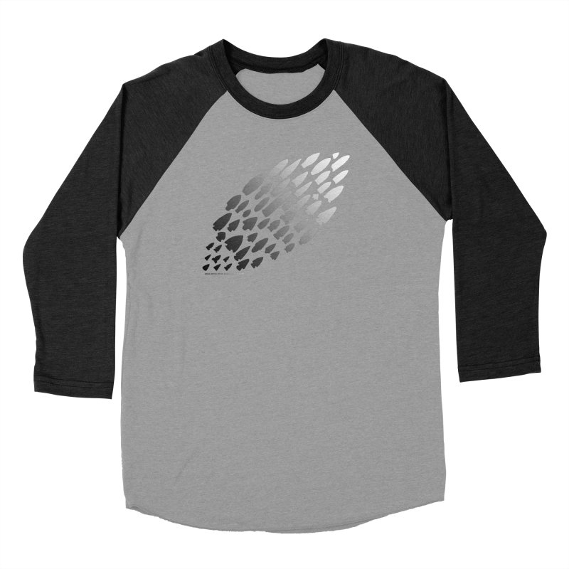 Iowa Projectile Points (B/W) Men's Longsleeve T-Shirt by Iowa Archaeology Gifts, Prints, & Apparel