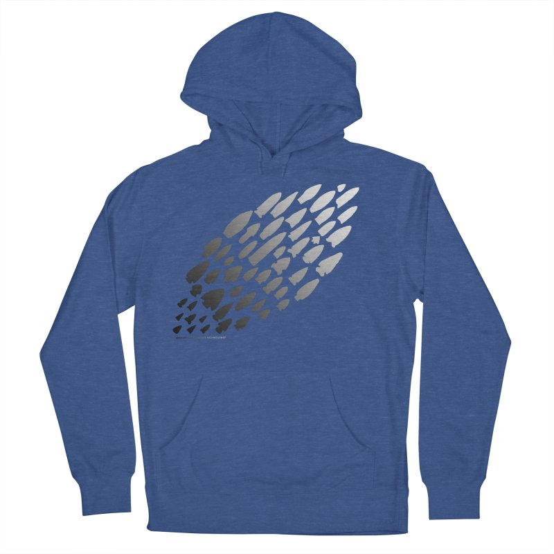 Iowa Projectile Points (B/W) Women's French Terry Pullover Hoody by Iowa Archaeology Gifts, Prints, & Apparel