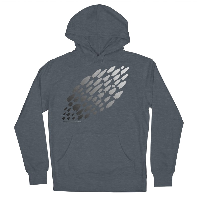 Iowa Projectile Points (B/W) Men's French Terry Pullover Hoody by Iowa Archaeology Gifts, Prints, & Apparel