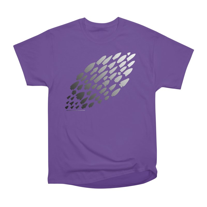Iowa Projectile Points (B/W) Men's Heavyweight T-Shirt by Iowa Archaeology Gifts, Prints, & Apparel