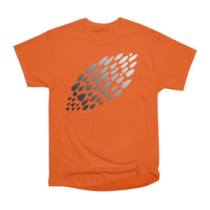 Iowa Projectile Points (B/W) Women's Heavyweight Unisex T-Shirt by Iowa Archaeology Gifts, Prints, & Apparel