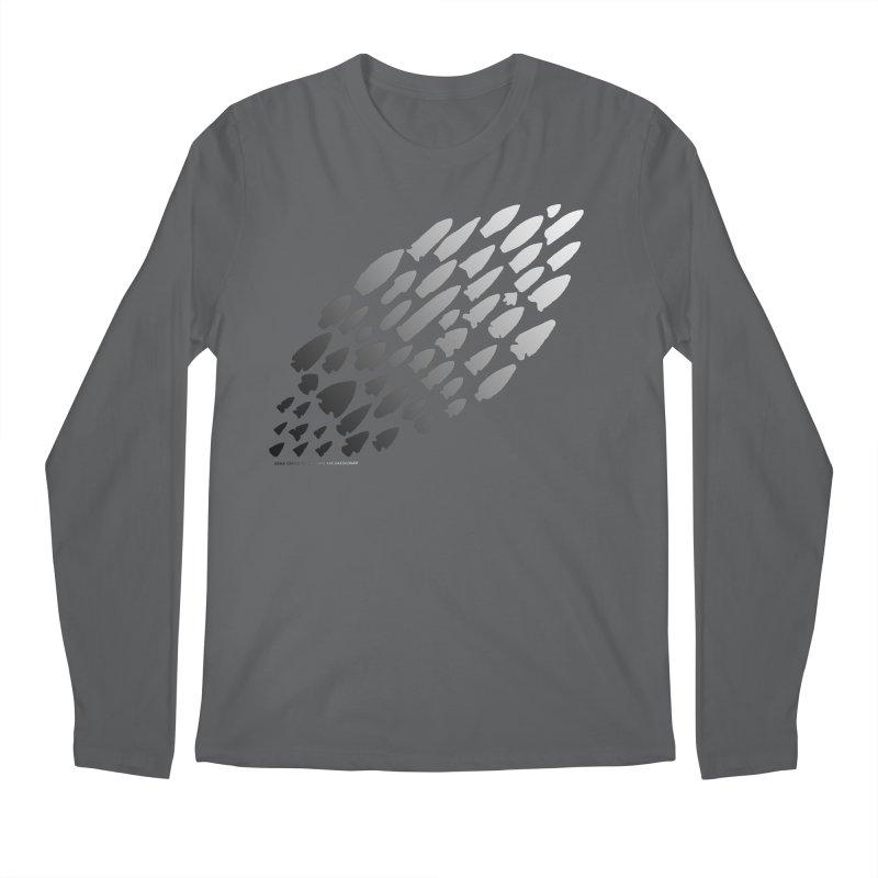 Iowa Projectile Points (B/W) Men's Regular Longsleeve T-Shirt by Iowa Archaeology Gifts, Prints, & Apparel