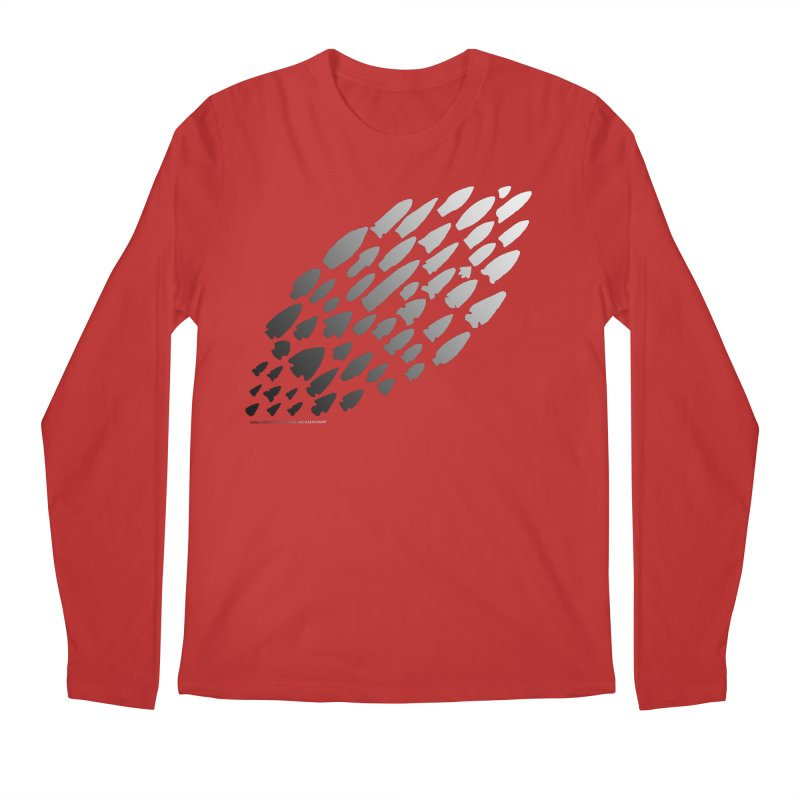 Iowa Projectile Points (B/W) Men's Regular Longsleeve T-Shirt by Iowa Archaeology Gifts, Prints, & Apparel