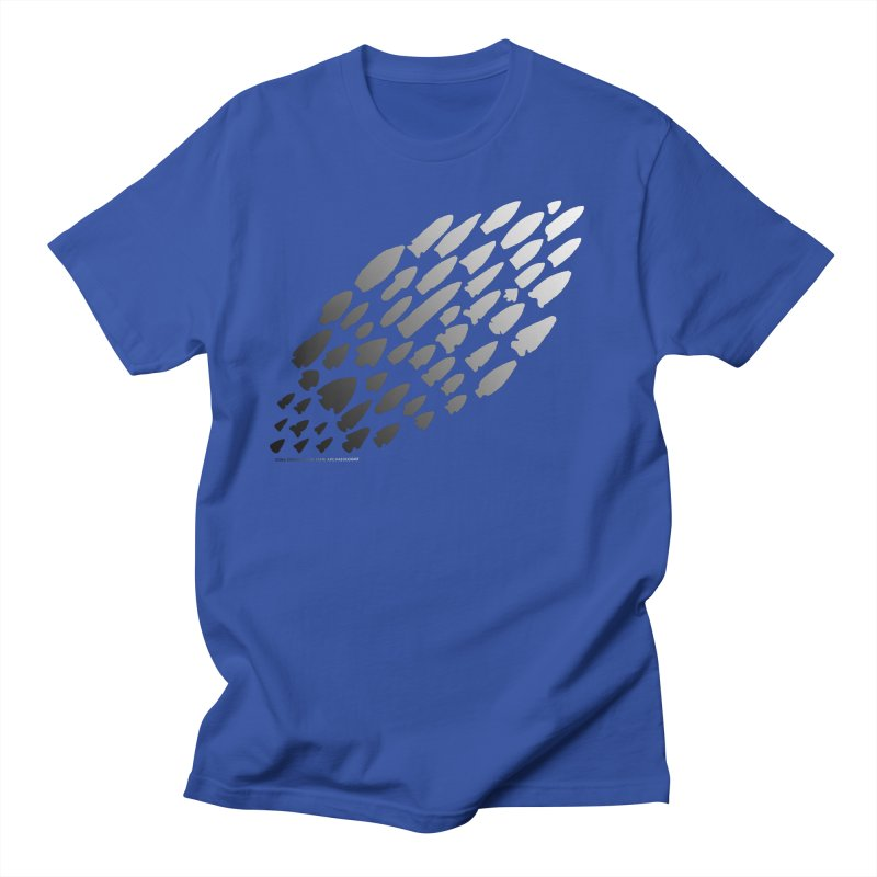 Iowa Projectile Points (B/W) Men's Regular T-Shirt by Iowa Archaeology Gifts, Prints, & Apparel