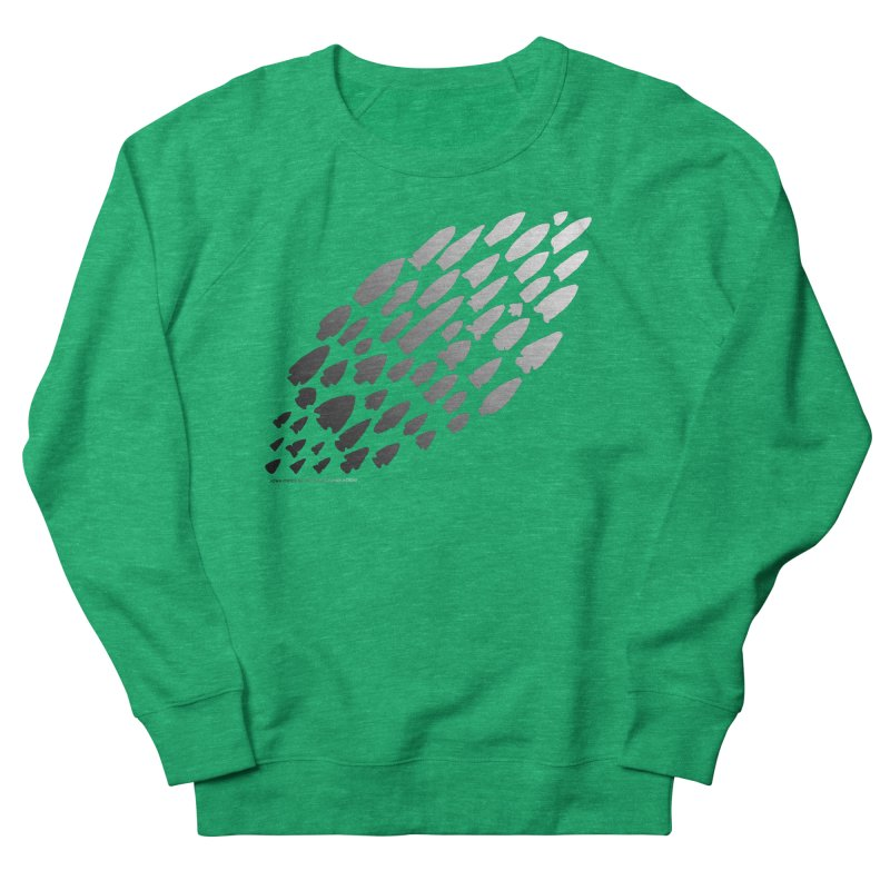 Iowa Projectile Points (B/W) Women's Sweatshirt by Iowa Archaeology Gifts, Prints, & Apparel