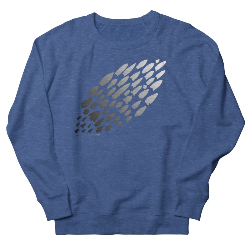 Iowa Projectile Points (B/W) Women's French Terry Sweatshirt by Iowa Archaeology Gifts, Prints, & Apparel
