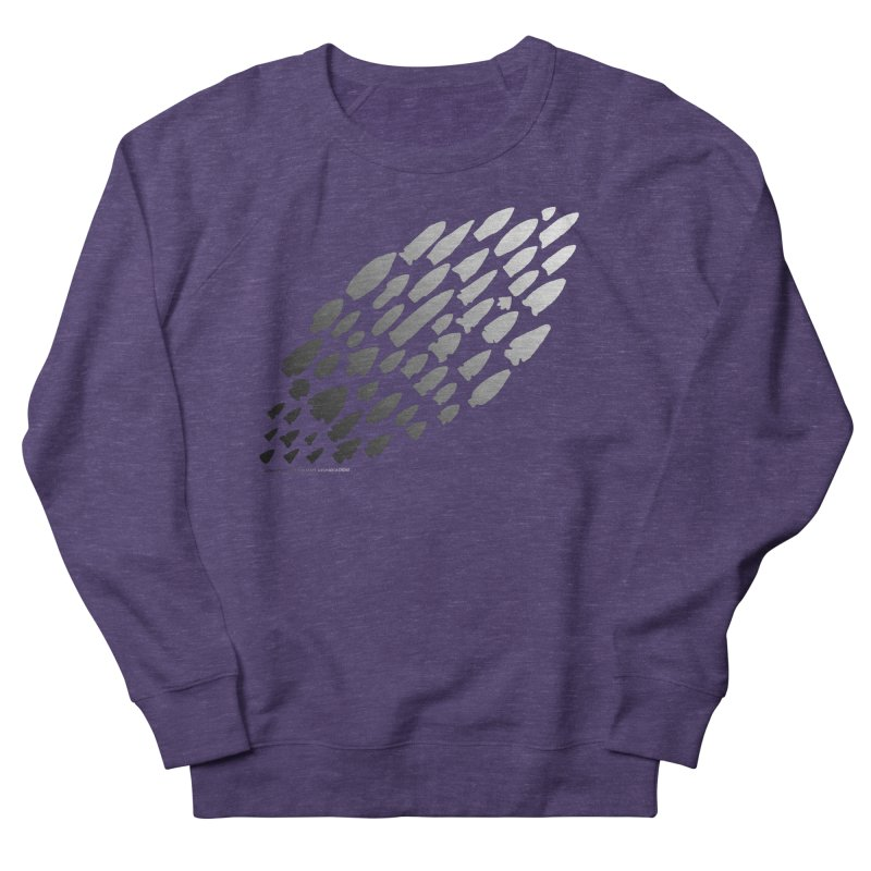 Iowa Projectile Points (B/W) Men's French Terry Sweatshirt by Iowa Archaeology Gifts, Prints, & Apparel