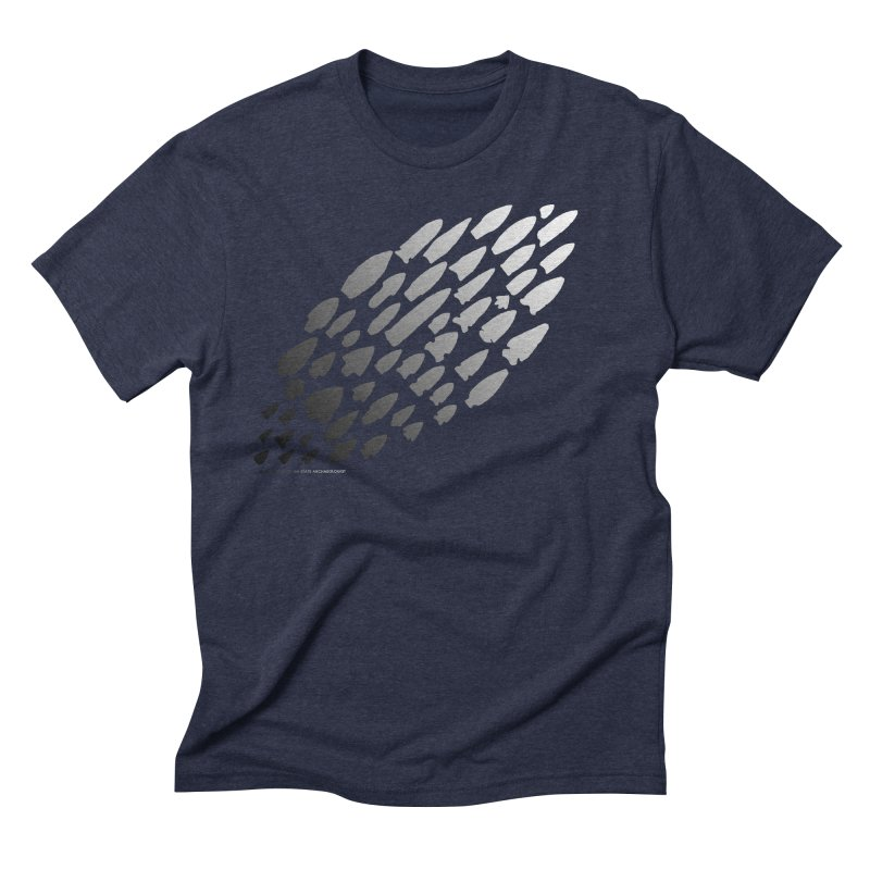 Iowa Projectile Points (B/W) Men's Triblend T-Shirt by Iowa Archaeology Gifts, Prints, & Apparel