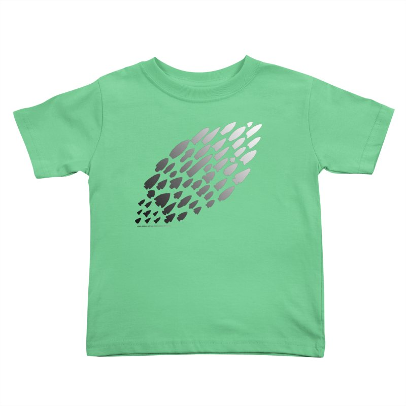 Iowa Projectile Points (B/W) Kids Toddler T-Shirt by Iowa Archaeology Gifts, Prints, & Apparel