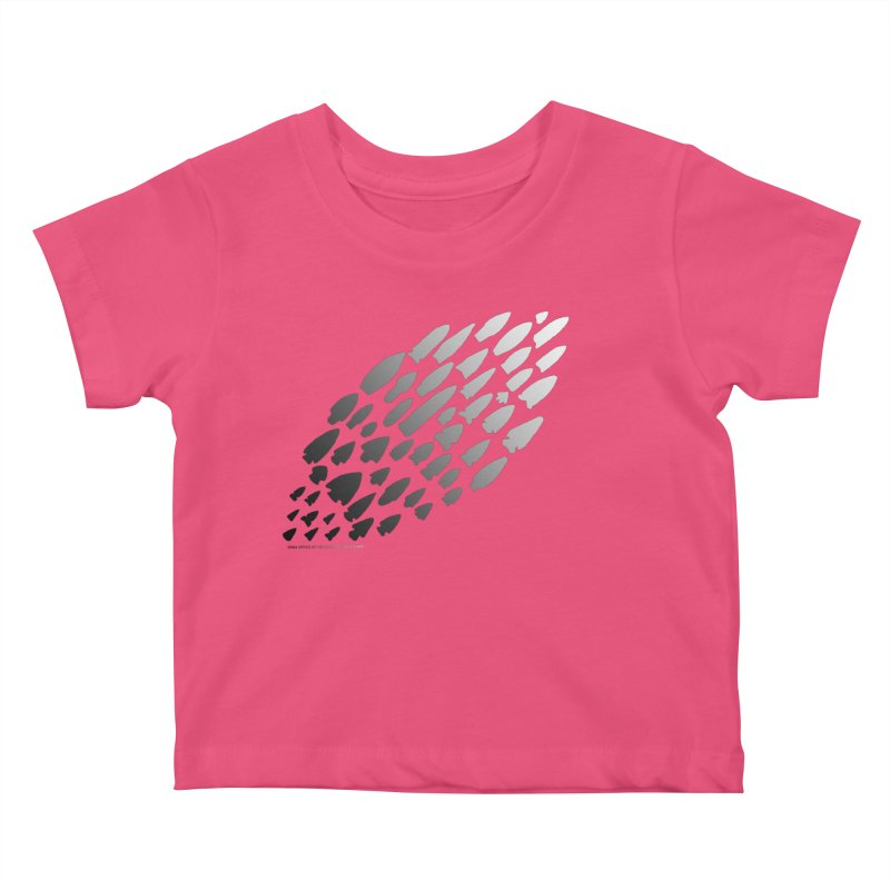 Iowa Projectile Points (B/W) Kids Baby T-Shirt by Iowa Archaeology Gifts, Prints, & Apparel