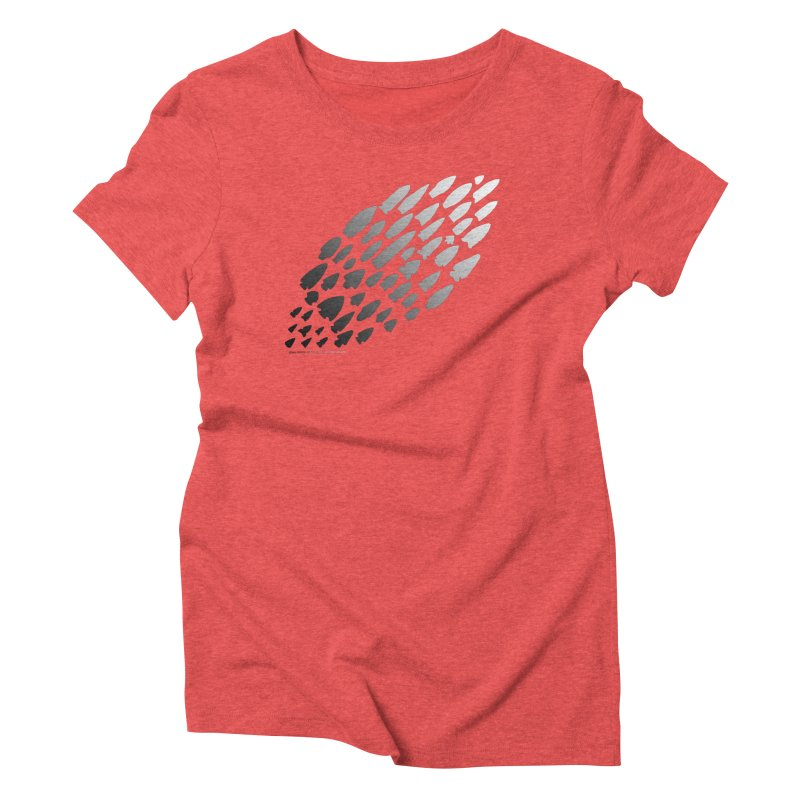Iowa Projectile Points (B/W) Women's T-Shirt by Iowa Archaeology Gifts, Prints, & Apparel