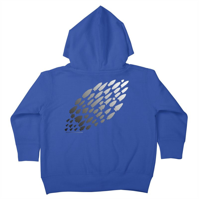 Iowa Projectile Points (B/W) Kids Toddler Zip-Up Hoody by Iowa Archaeology Gifts, Prints, & Apparel