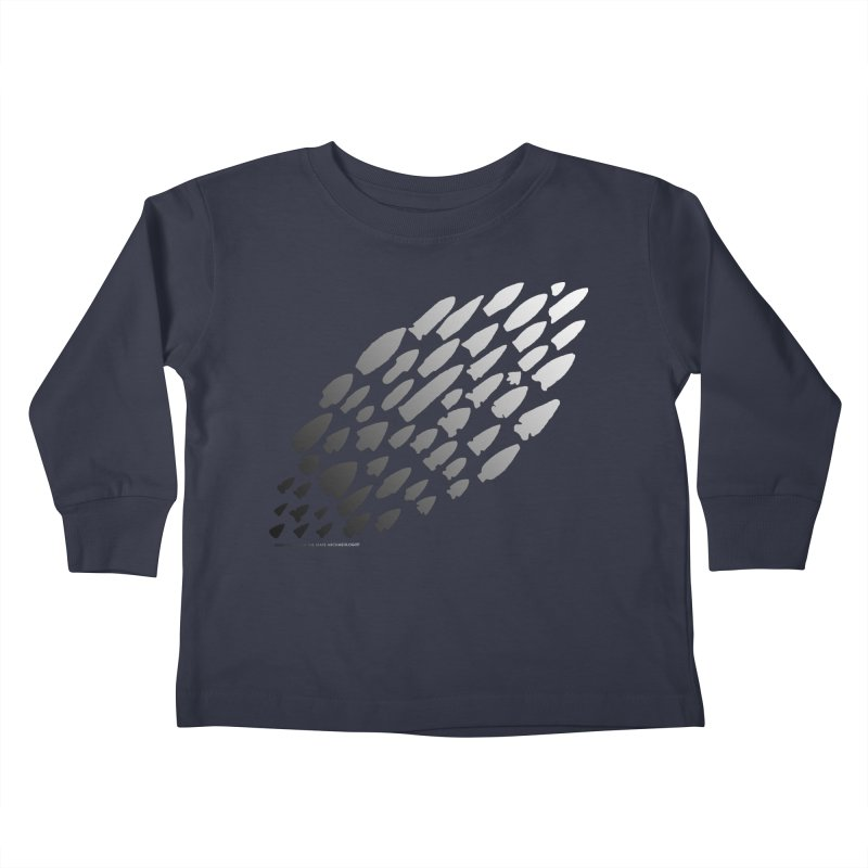 Iowa Projectile Points (B/W) Kids Toddler Longsleeve T-Shirt by Iowa Archaeology Gifts, Prints, & Apparel