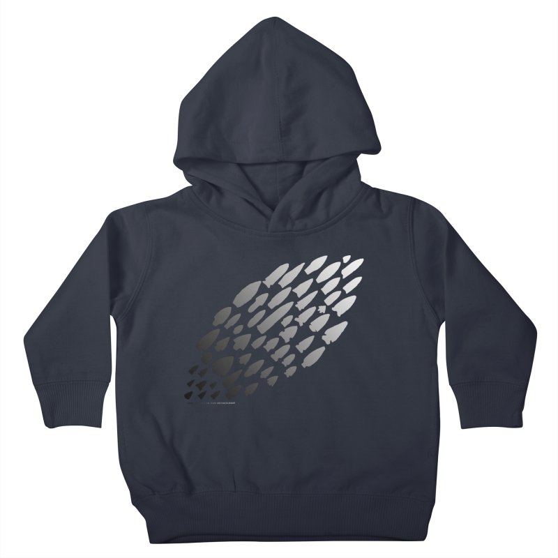 Iowa Projectile Points (B/W) Kids Toddler Pullover Hoody by Iowa Archaeology Gifts, Prints, & Apparel