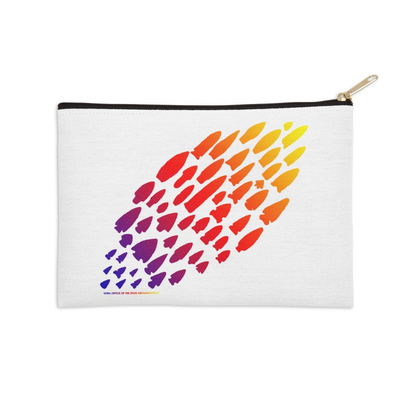 Iowa Projectile Points (Rainbow, Version 1) Accessories Zip Pouch by Iowa Archaeology Gifts, Prints, & Apparel