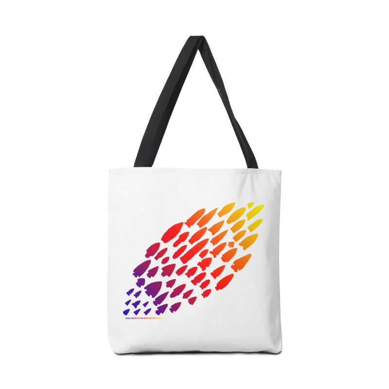 Iowa Projectile Points (Rainbow, Version 1) Accessories Tote Bag Bag by Iowa Archaeology Gifts, Prints, & Apparel