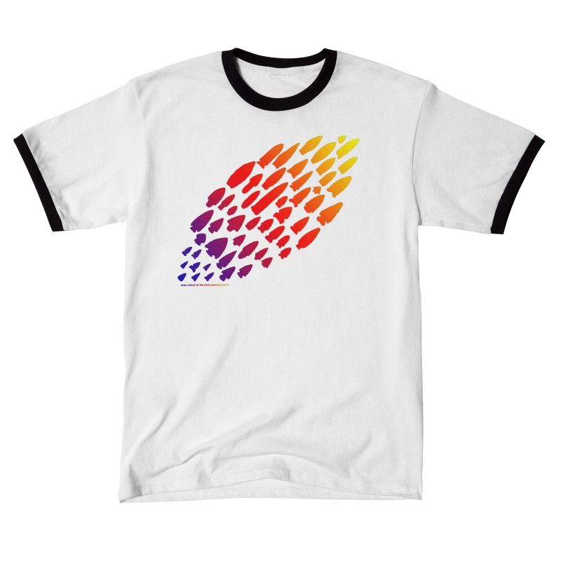 Iowa Projectile Points (Rainbow, Version 1) Men's T-Shirt by Iowa Archaeology Gifts, Prints, & Apparel