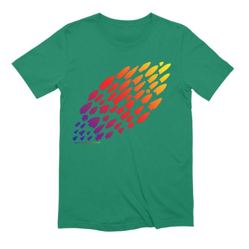 Iowa Projectile Points (Rainbow, Version 1) Men's Extra Soft T-Shirt by Iowa Archaeology Gifts, Prints, & Apparel