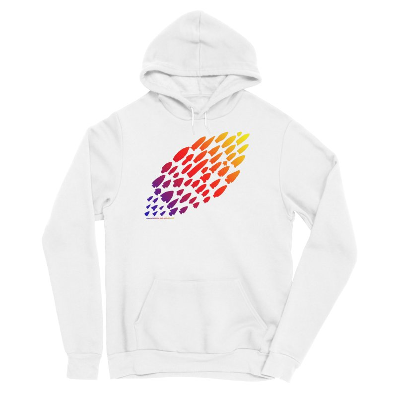Iowa Projectile Points (Rainbow, Version 1) Men's Pullover Hoody by Iowa Archaeology Gifts, Prints, & Apparel