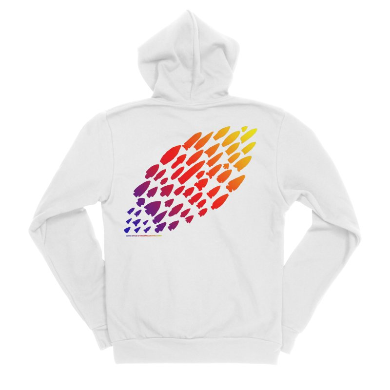 Iowa Projectile Points (Rainbow, Version 1) Men's Zip-Up Hoody by Iowa Archaeology Gifts, Prints, & Apparel