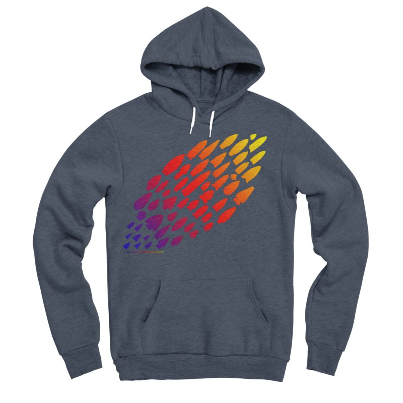 Iowa Projectile Points (Rainbow, Version 1) Women's Sponge Fleece Pullover Hoody by Iowa Archaeology Gifts, Prints, & Apparel