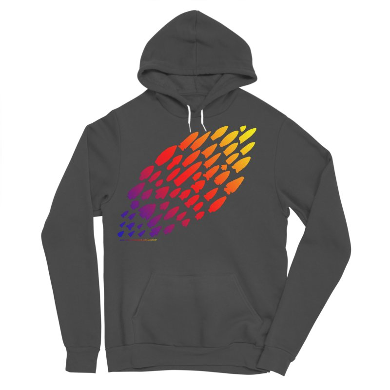 Iowa Projectile Points (Rainbow, Version 1) Men's Sponge Fleece Pullover Hoody by Iowa Archaeology Gifts, Prints, & Apparel
