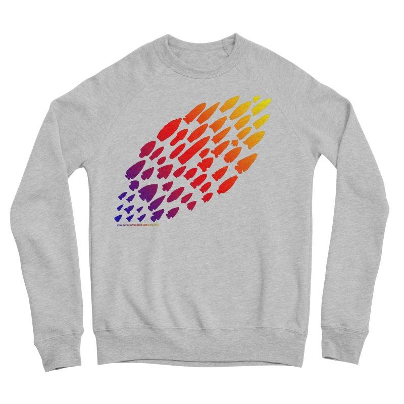 Iowa Projectile Points (Rainbow, Version 1) Men's Sponge Fleece Sweatshirt by Iowa Archaeology Gifts, Prints, & Apparel