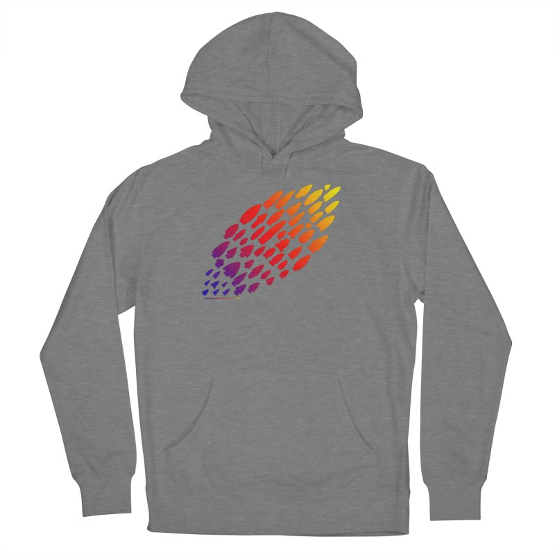 Iowa Projectile Points (Rainbow, Version 1) Women's Pullover Hoody by Iowa Archaeology Gifts, Prints, & Apparel