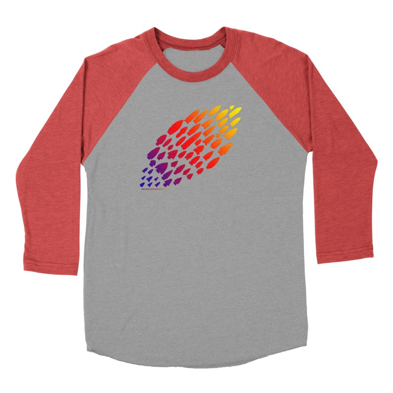 Iowa Projectile Points (Rainbow, Version 1) Men's Longsleeve T-Shirt by Iowa Archaeology Gifts, Prints, & Apparel
