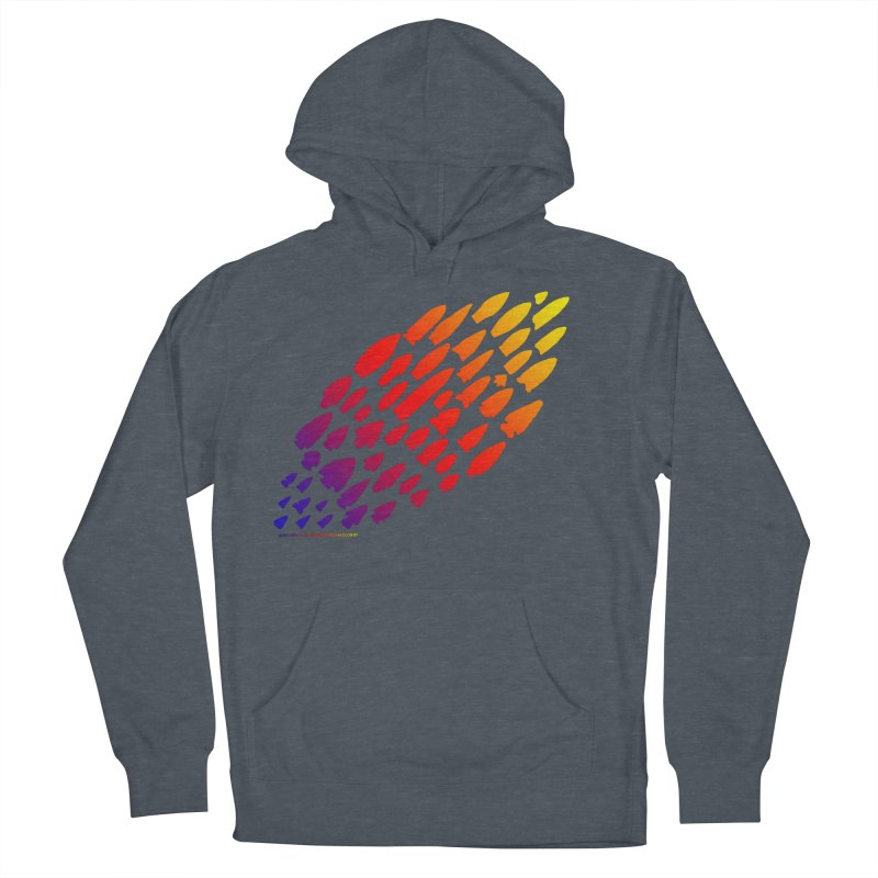Iowa Projectile Points (Rainbow, Version 1) Women's French Terry Pullover Hoody by Iowa Archaeology Gifts, Prints, & Apparel