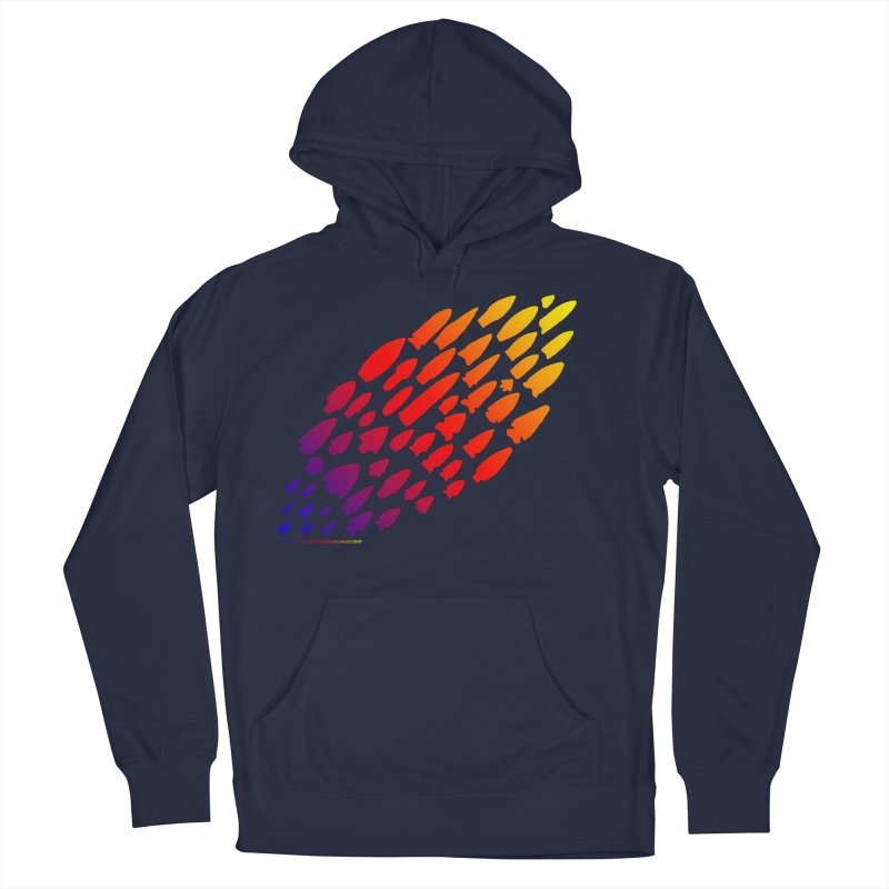 Iowa Projectile Points (Rainbow, Version 1) Men's French Terry Pullover Hoody by Iowa Archaeology Gifts, Prints, & Apparel