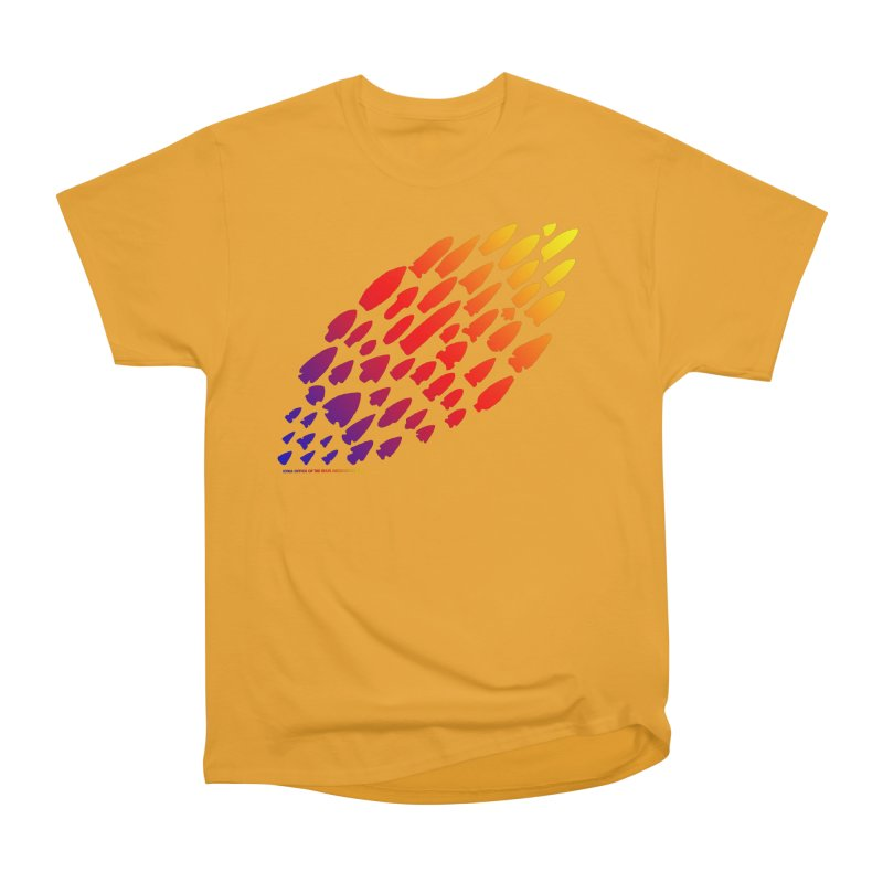 Iowa Projectile Points (Rainbow, Version 1) Women's Heavyweight Unisex T-Shirt by Iowa Archaeology Gifts, Prints, & Apparel