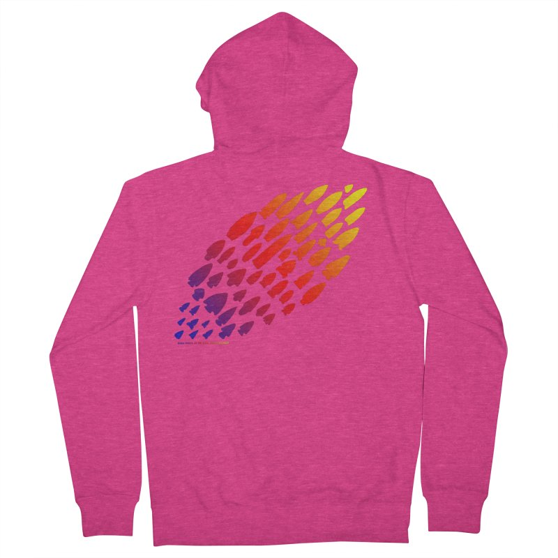 Iowa Projectile Points (Rainbow, Version 1) Women's French Terry Zip-Up Hoody by Iowa Archaeology Gifts, Prints, & Apparel