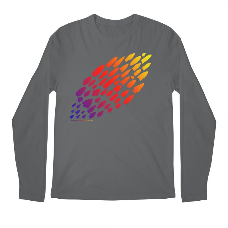 Iowa Projectile Points (Rainbow, Version 1) Men's Regular Longsleeve T-Shirt by Iowa Archaeology Gifts, Prints, & Apparel
