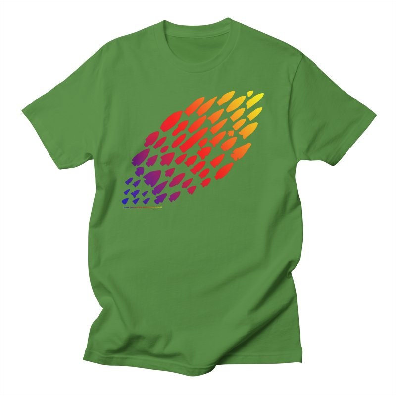 Iowa Projectile Points (Rainbow, Version 1) Women's Regular Unisex T-Shirt by Iowa Archaeology Gifts, Prints, & Apparel