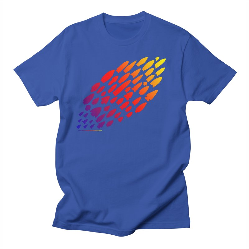 Iowa Projectile Points (Rainbow, Version 1) Men's Regular T-Shirt by Iowa Archaeology Gifts, Prints, & Apparel