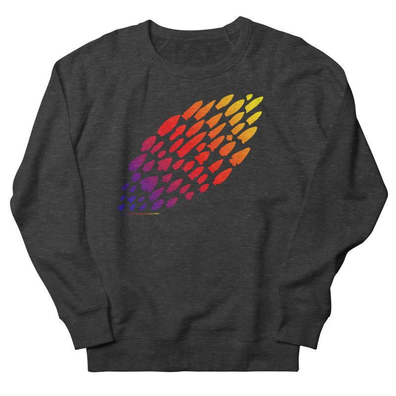 Iowa Projectile Points (Rainbow, Version 1) Women's French Terry Sweatshirt by Iowa Archaeology Gifts, Prints, & Apparel