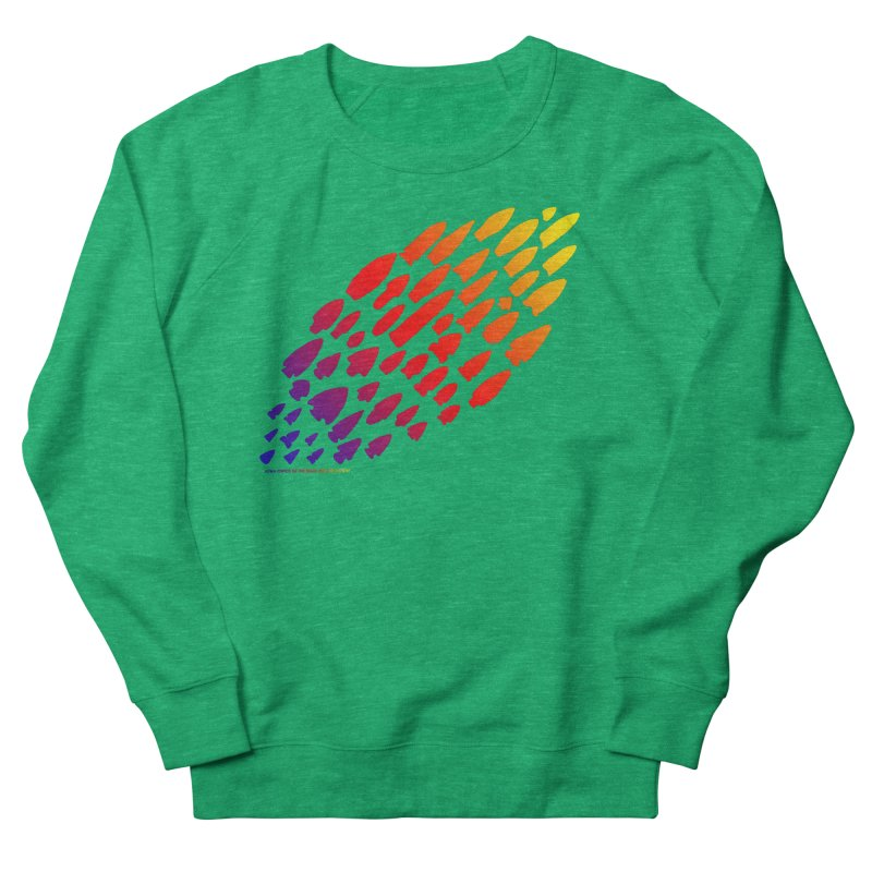 Iowa Projectile Points (Rainbow, Version 1) Men's French Terry Sweatshirt by Iowa Archaeology Gifts, Prints, & Apparel