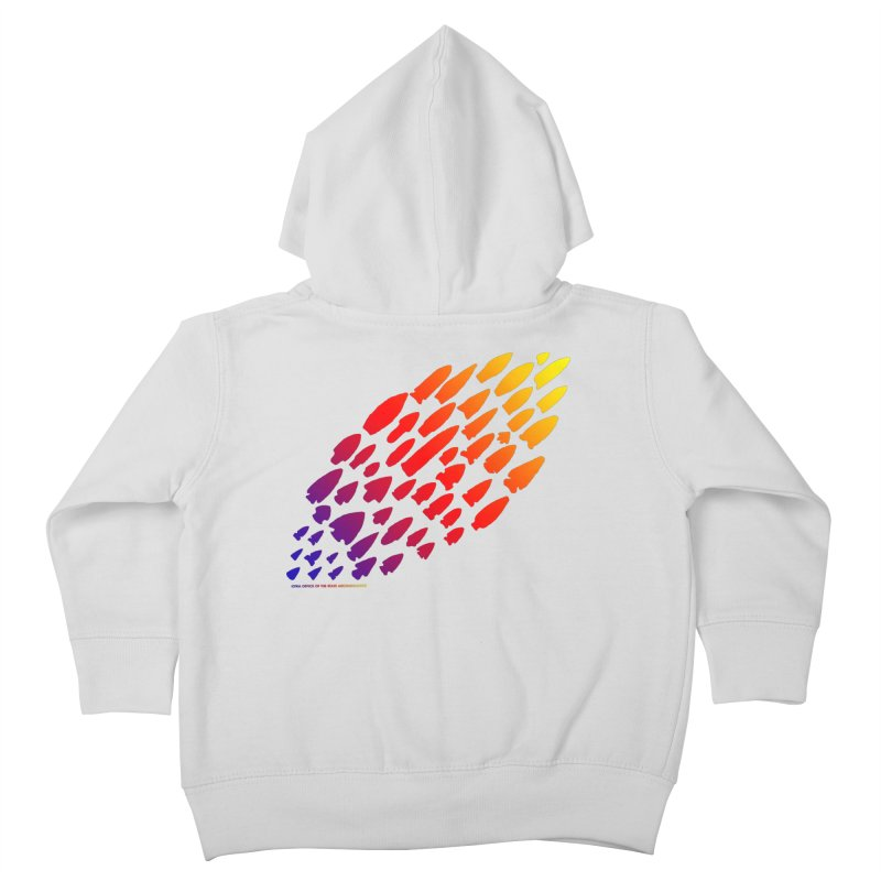 Iowa Projectile Points (Rainbow, Version 1) Kids Toddler Zip-Up Hoody by Iowa Archaeology Gifts, Prints, & Apparel
