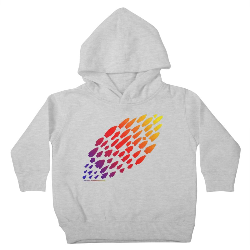 Iowa Projectile Points (Rainbow, Version 1) Kids Toddler Pullover Hoody by Iowa Archaeology Gifts, Prints, & Apparel