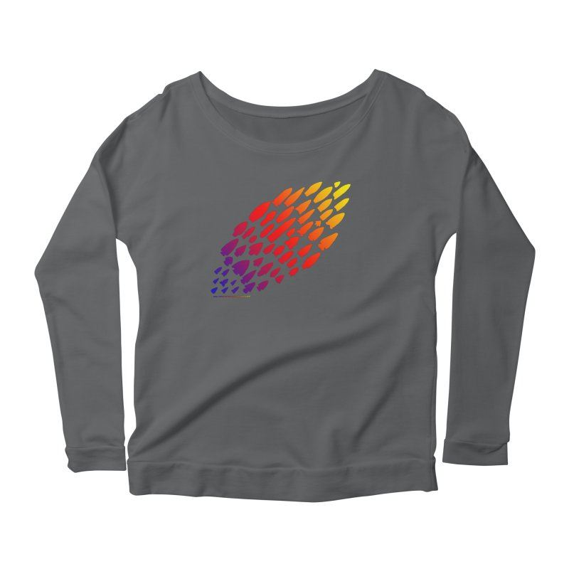 Iowa Projectile Points (Rainbow, Version 1) Women's Longsleeve T-Shirt by Iowa Archaeology Gifts, Prints, & Apparel