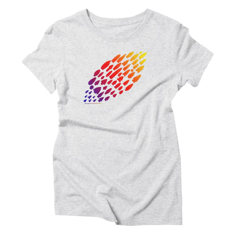 Iowa Projectile Points (Rainbow, Version 1) Women's Triblend T-Shirt by Iowa Archaeology Gifts, Prints, & Apparel